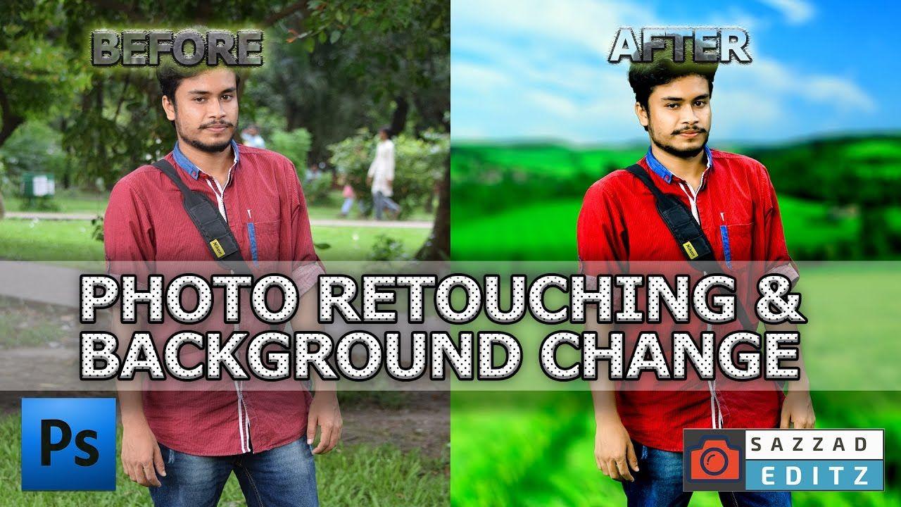 Retouching Photo and Change Background Using Adobe Photoshop CC