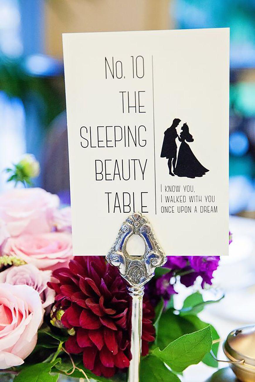 Wedding Table Name Ideas: Disney - Princesses   CHWV   Becoming Mrs ...