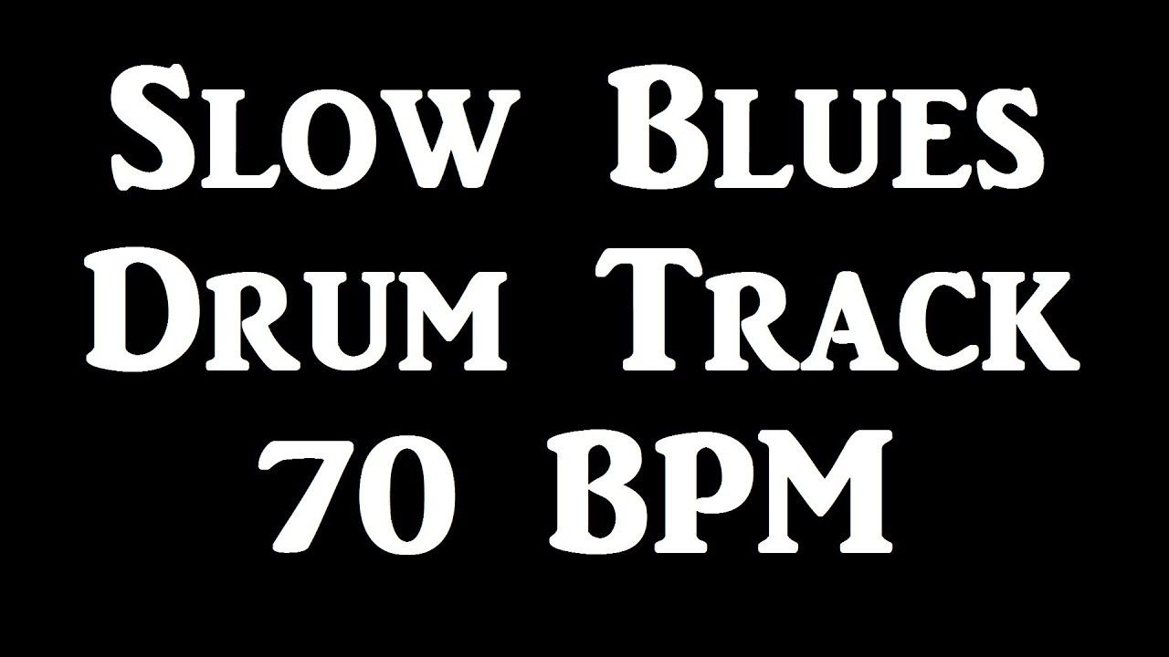 Slow Blues Drum Beat 70 BPM Bass Guitar Backing Track Loop