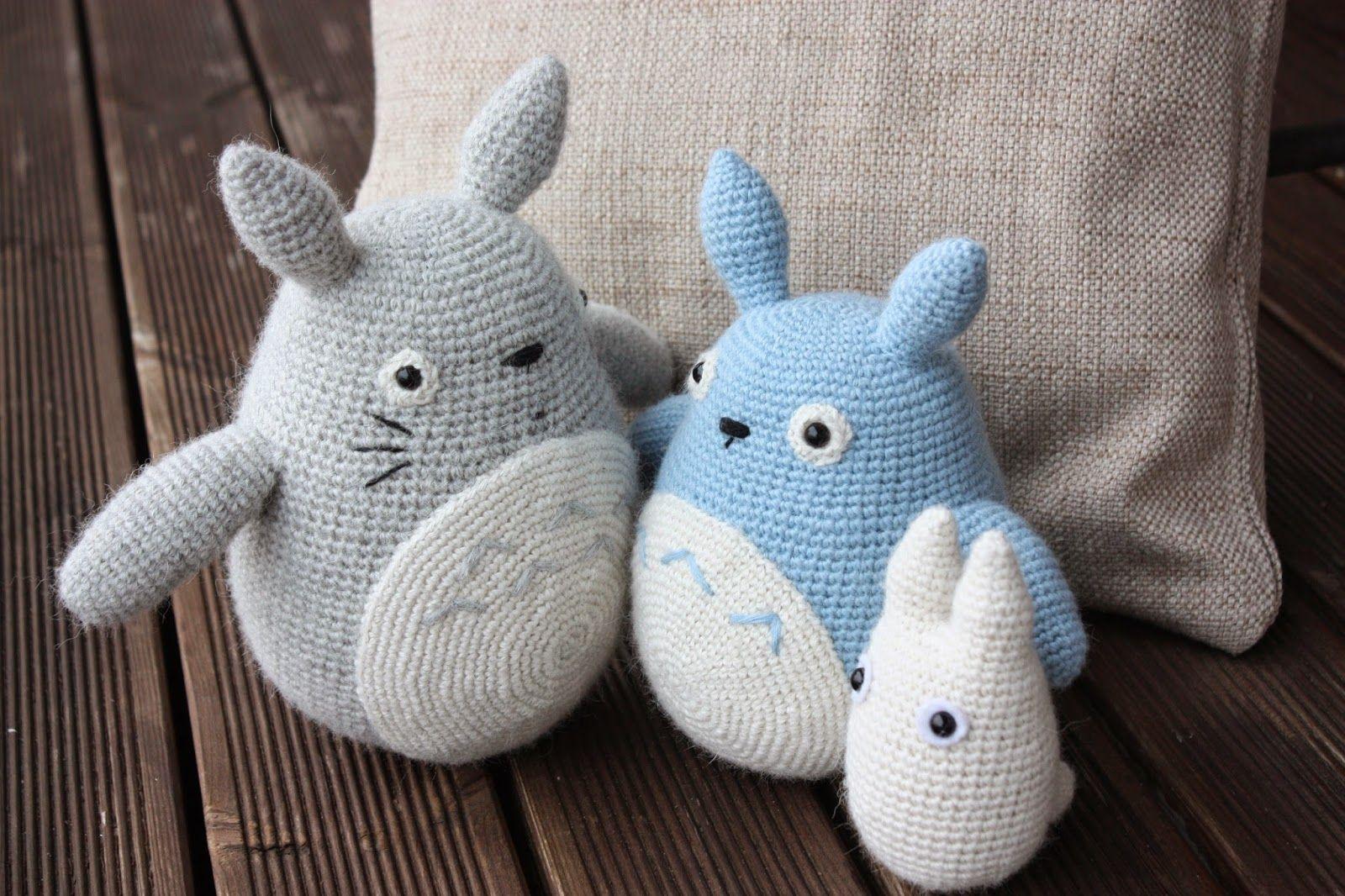 Totoro Azul Amigurumi : Amigurumi totoros amiguris ganchillo cursi y hilo