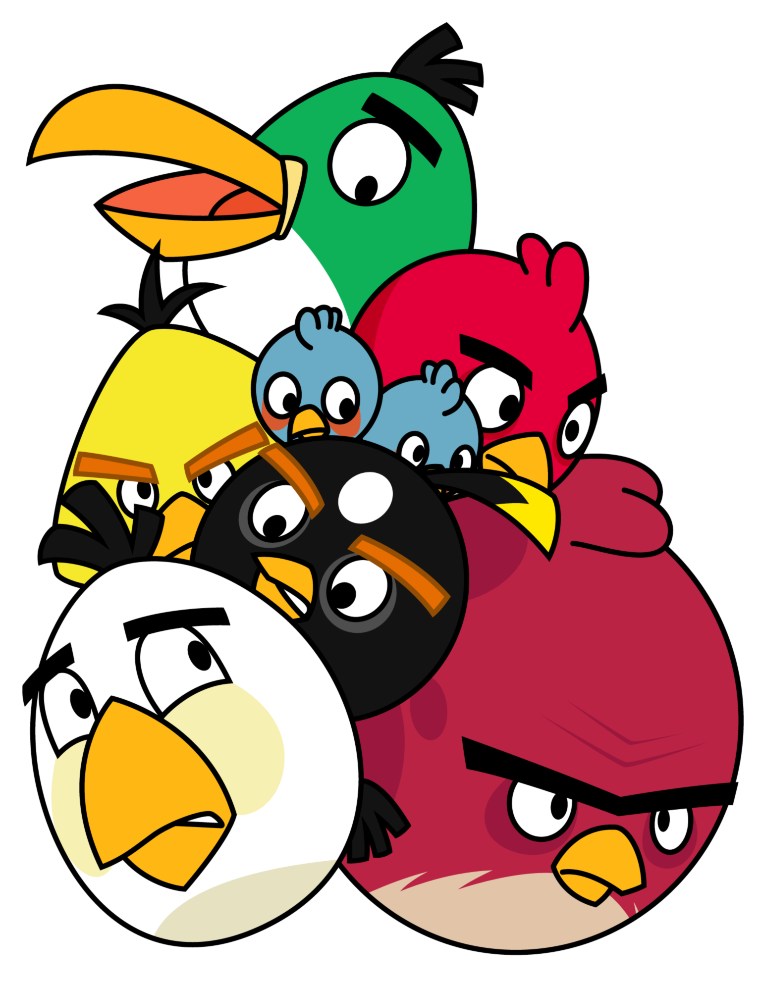 Pile Of Angry Birds By Gav Impdeviantart