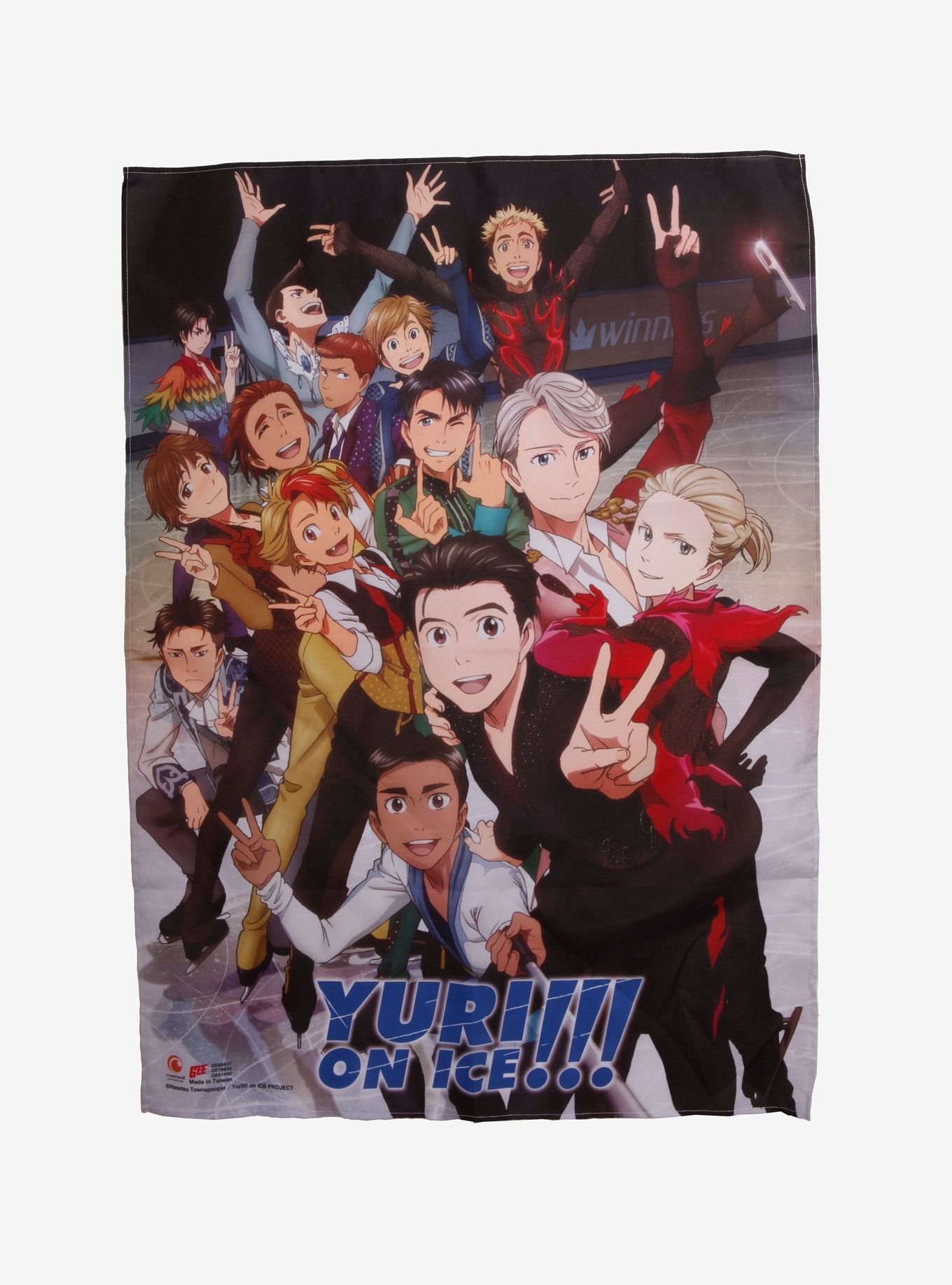 Yuri!!! On ICE Skaters Fabric Poster Fabric poster, Hot
