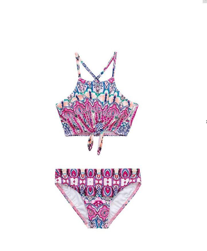 Nwt Seafolly Swan Lake Girls Size 5 6 7 Pink Mermaidia Tank Bikini