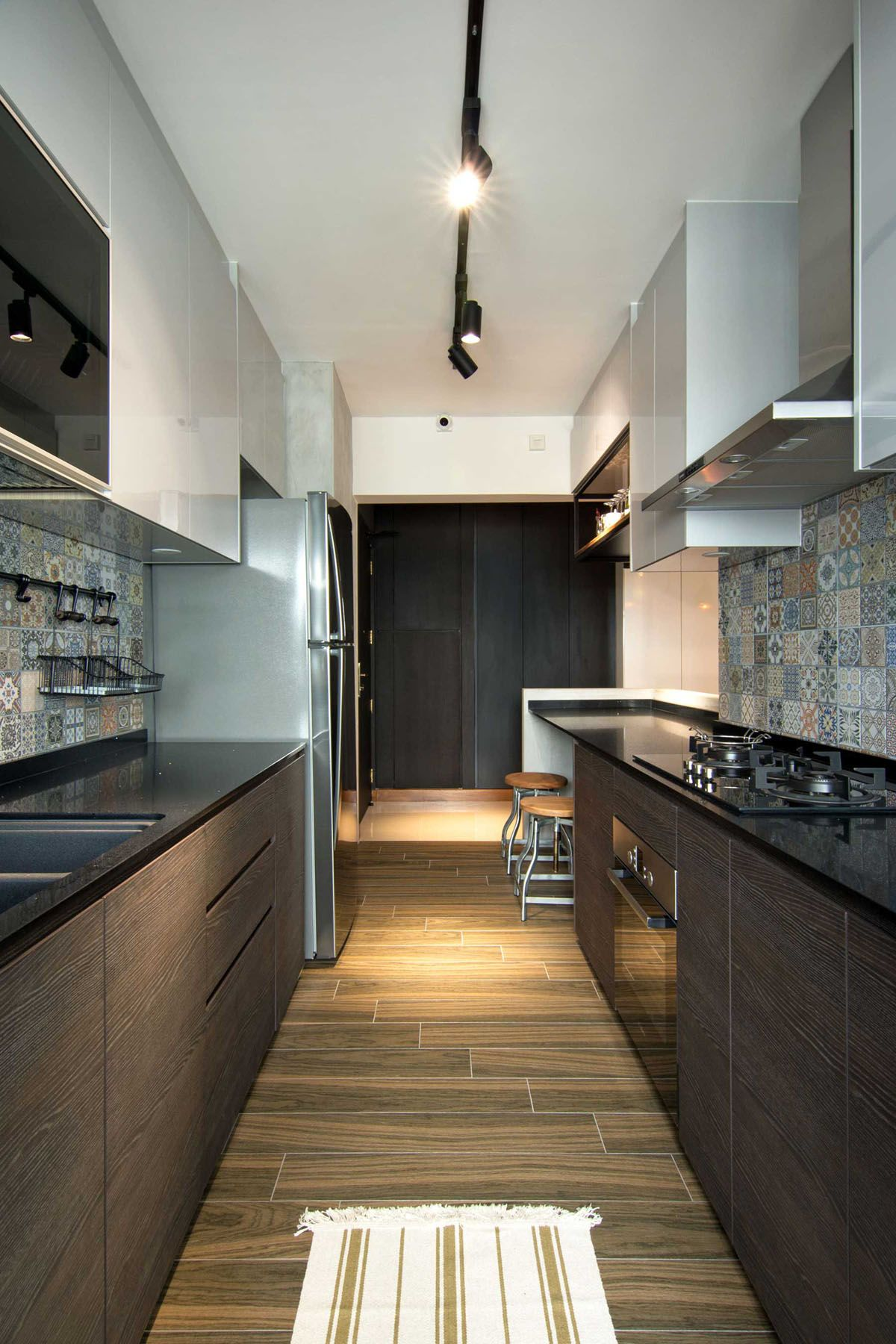 Attractive Singapore Kitchen Design Ideas Part - 12: Small Contemporary Kitchen Design Inside Stylish Home In Singapore - Decoist