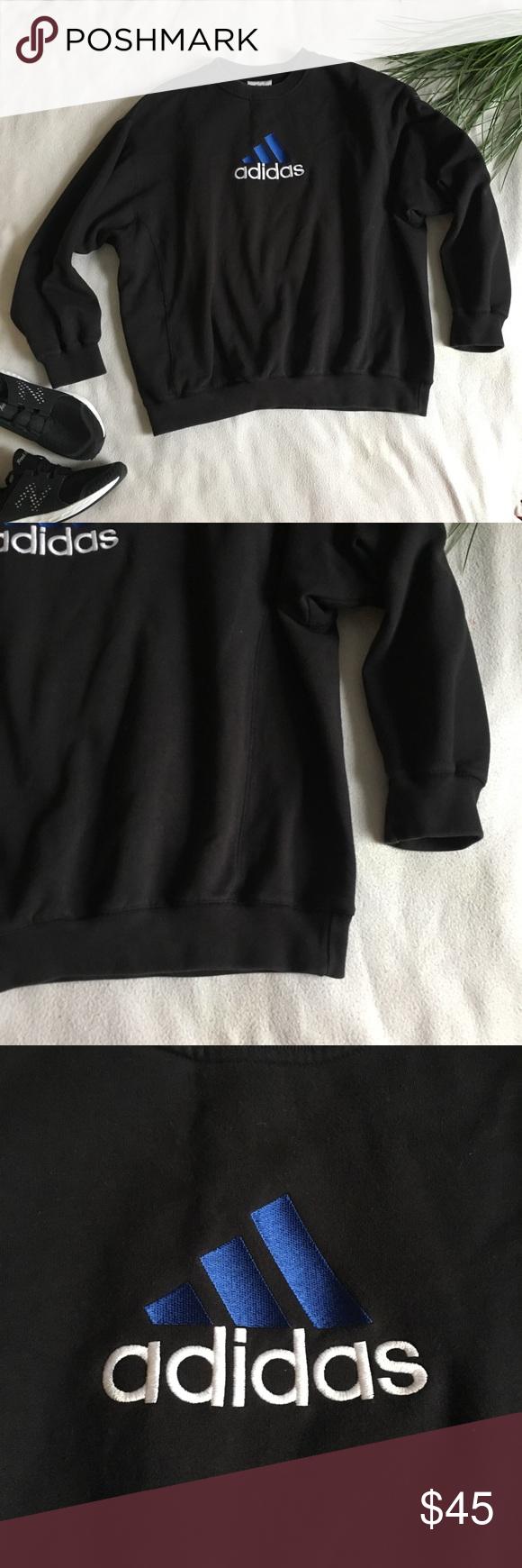 Vintage Adidas Logo Unisex Crew Neck Sweatshirt Sweatshirt Makeover Trendy Sweatshirt Sweatshirts [ 1740 x 580 Pixel ]