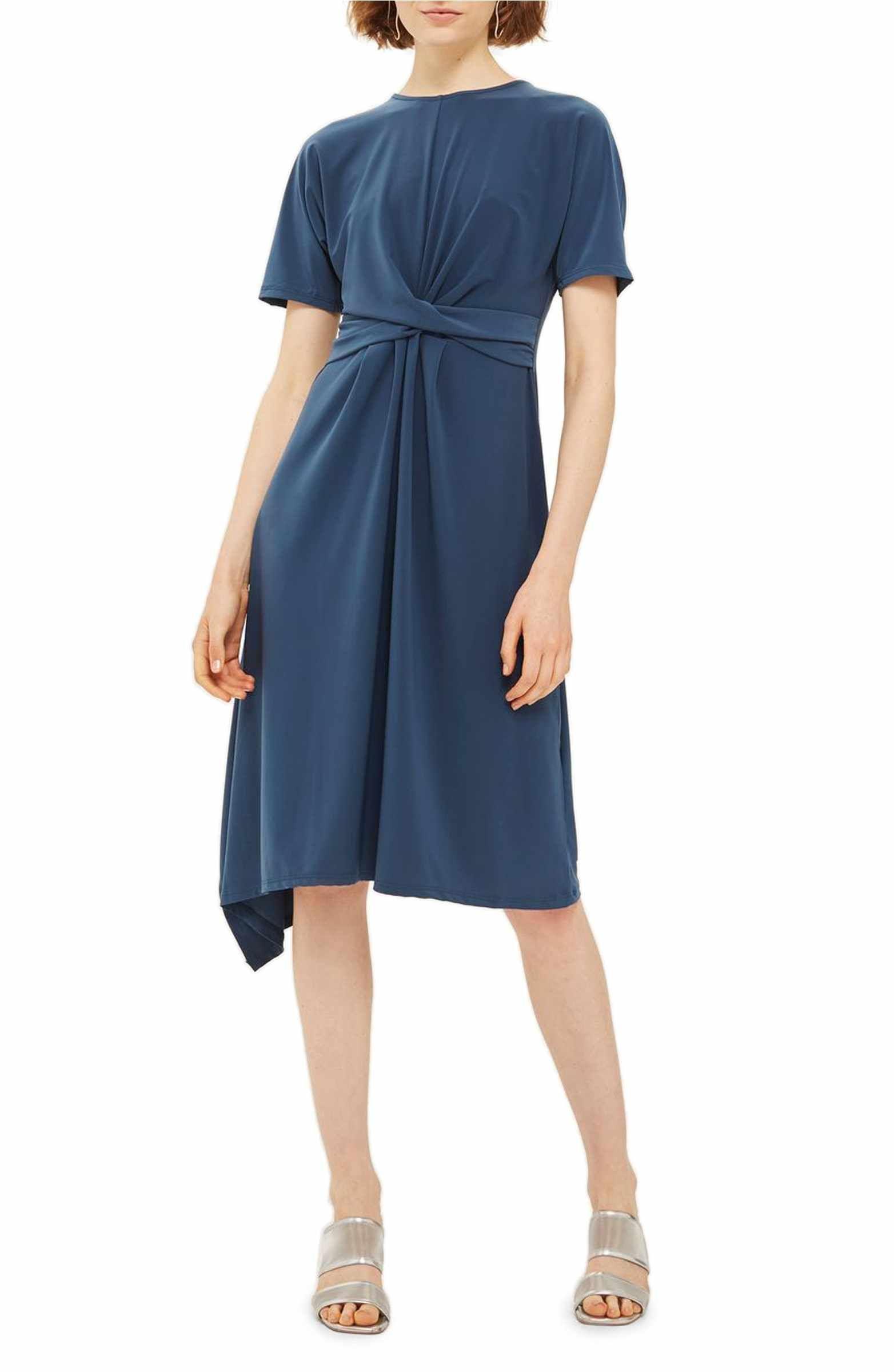 Topshop Twist Front Jersey Midi Dress Nordstrom Dresses Nordstrom Dresses Clothes [ 2400 x 1564 Pixel ]