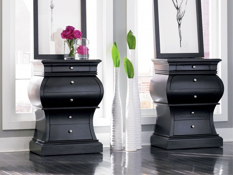 Transform everyday storage to an art form with the Curved black - Used Bedroom Sets