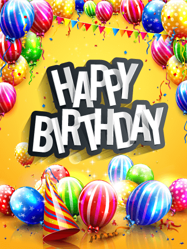 Send Free Bright Colorful Happy Birthday Card To Loved Ones On Greeting Cards By Davia Its 100 And You Also Can Use Your Own
