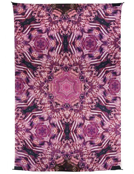 abe9bc81f4d4 Zest For Life Pink Kaleidoscope Digital Print Tapestry Tablecloth Beach  Sheet Wall Art Huge 53X88 Inches