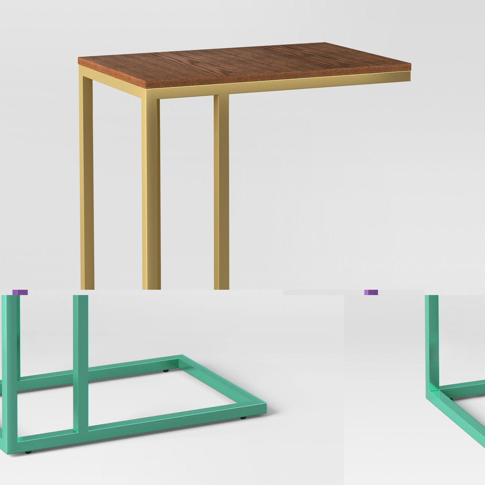 Antwerp C Table Walnut Project 62 Target C Table Blue