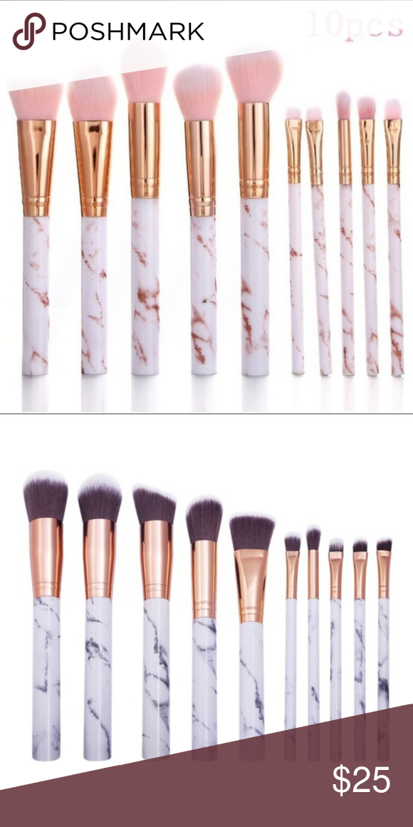 Brand New 10 Pc Marble Makeup Brushes Makeup Brushes Makeup Brush Set Brush