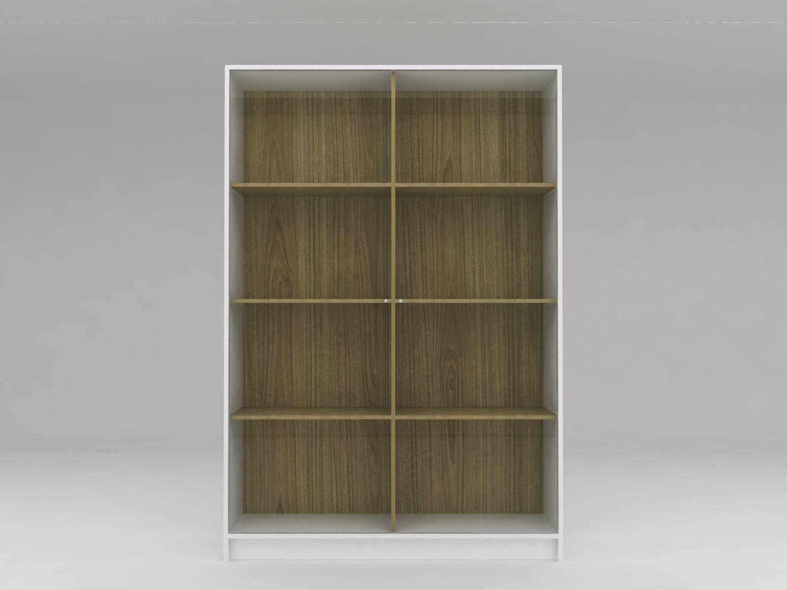Minimalist Modern Furniture Lemari Sepatu Kaca Minimalis White