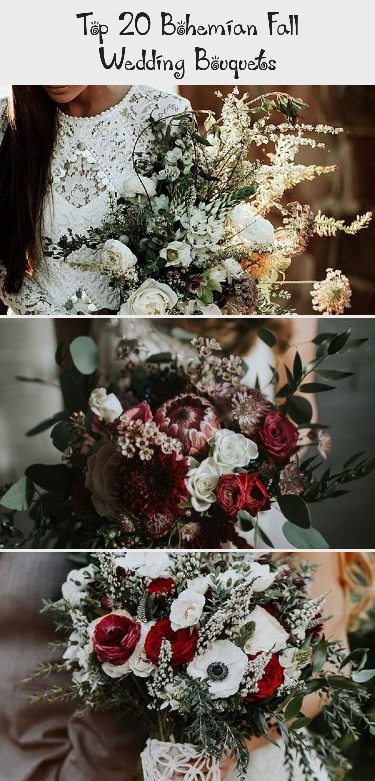 Top 20 Bohemian Fall Wedding Bouquets Bohemian wedding bouquet and flowers