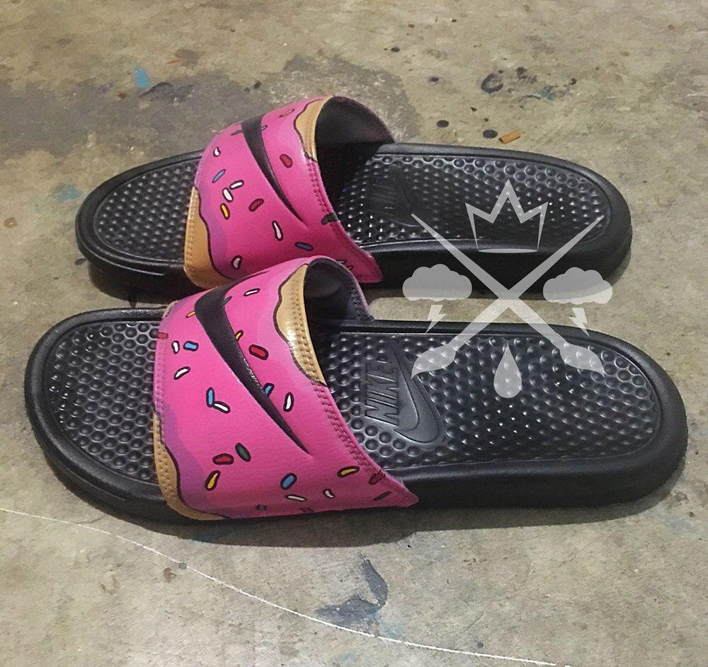 Nike Custom The Simpsons Pink Doughnut With Sprinkles