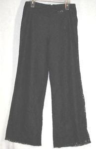 BALLINGER GOLD pants sz 6 fully lined BLACK ILLUSION LACE
