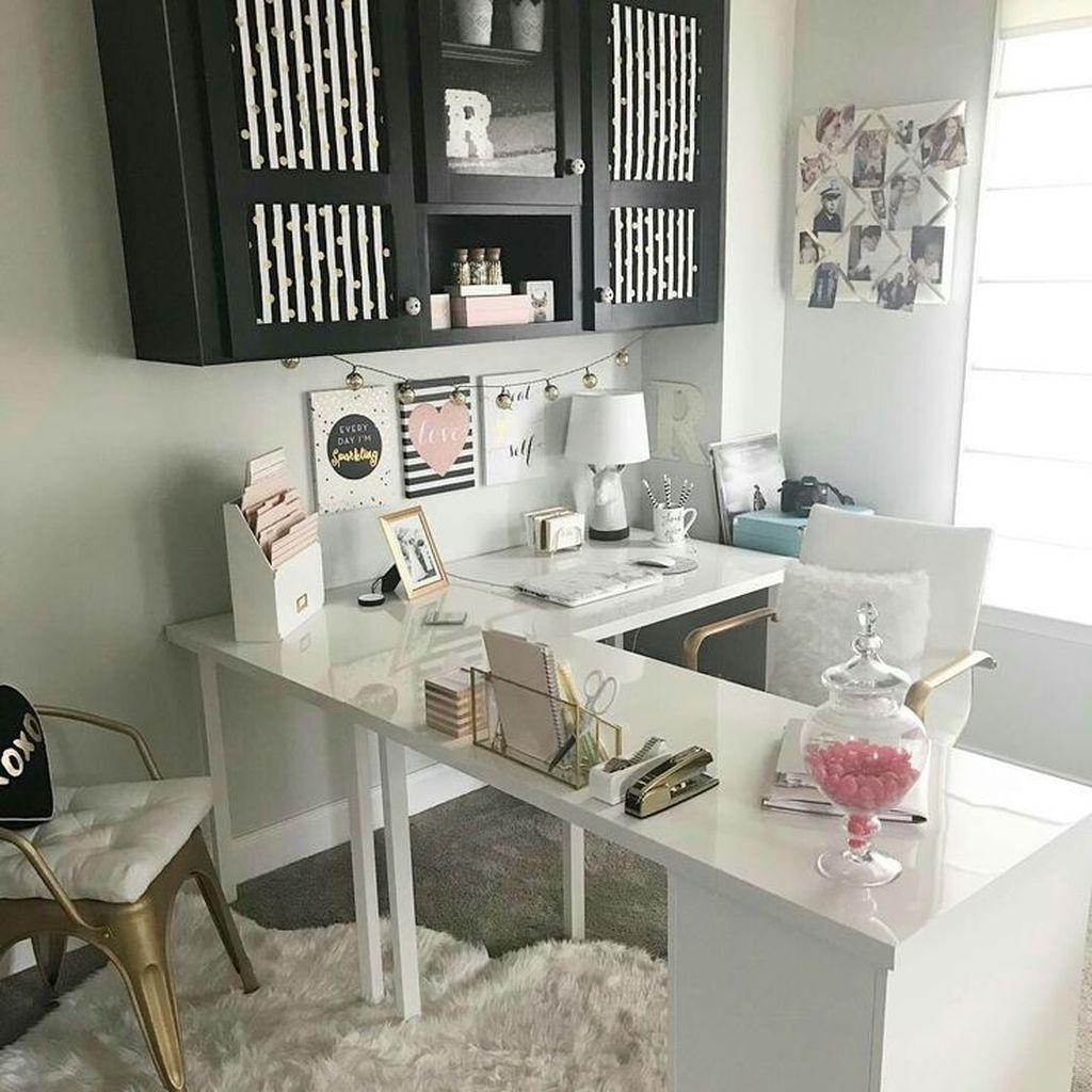 36 Creative Small Home Office Design Ideas Home Office Space Home Office Decor Home Office Design
