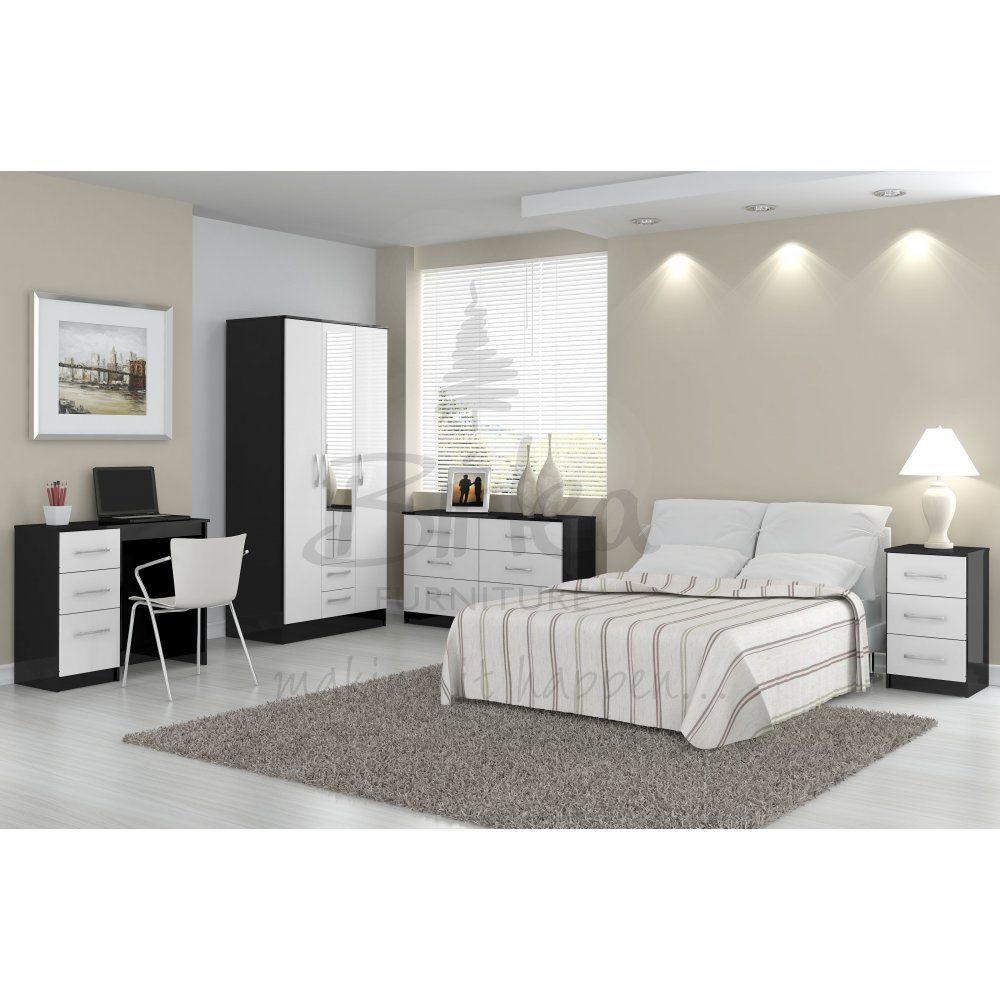 Birlea Lynx Bedroom Set In Black White Home Ideas