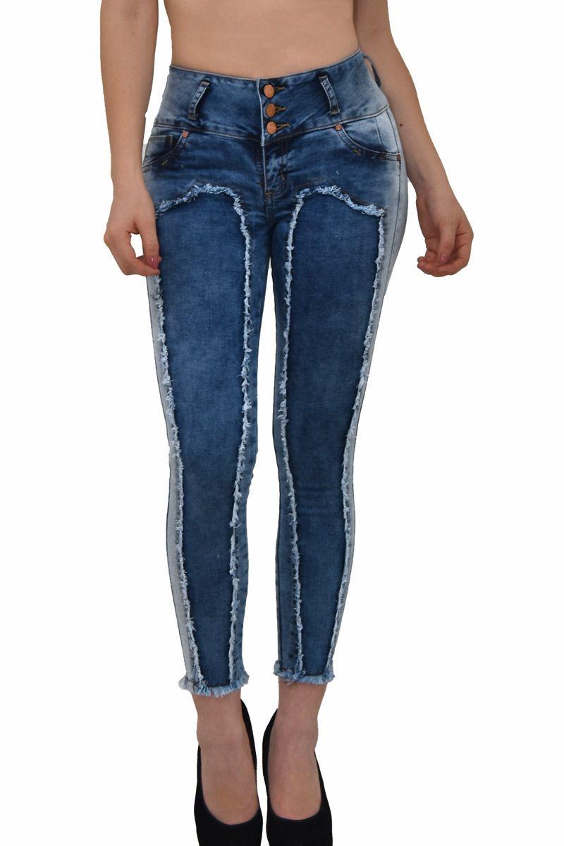Jeans Denim Strech Sacapompis Ropa Pantalon Dama Jeans Mujer