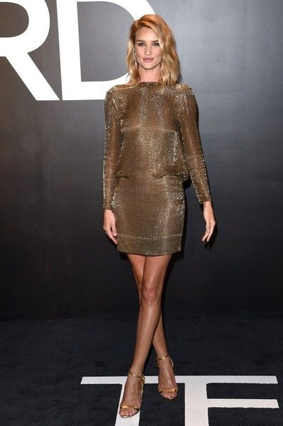 Rosie Huntington-Whiteley - Celebs at the Tom Ford Fall 2015 Show - Photos