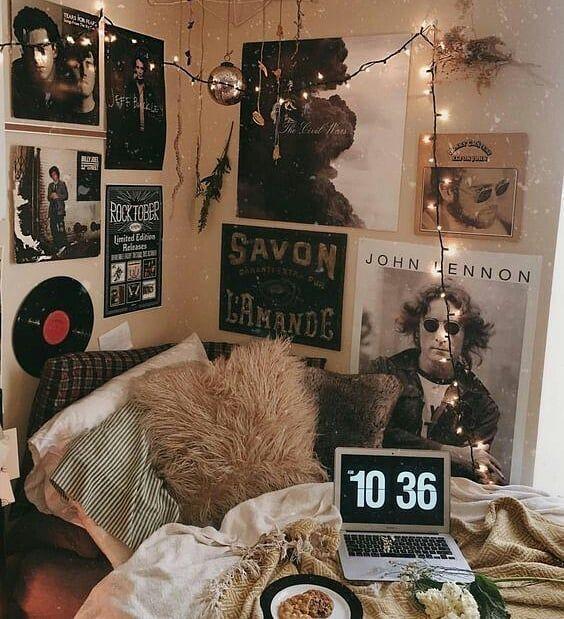 - Room decor, Dorm room diy, Dorm room decor, Grunge bedroom, Aesthetic room decor, Apartment decor - [ad 1] in the grunge Vintage retro Punk Skirt [ad 2] Source by dilaraha -  #Roomdecor #interiores #interiorstyling #instagood #black #love #render #art #design #homedecoration #scandinavianmalaysia #interiorstyling #bnw #wood #simpleliving #designer #indie room decor diy indie grunge vintage retro punk rock – Room decor