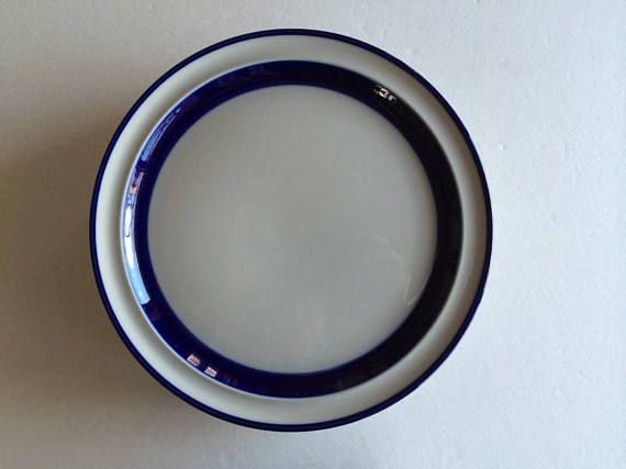 Arabia Of Finland ANEMONE Salad Plate NICE More Items Available BLUE