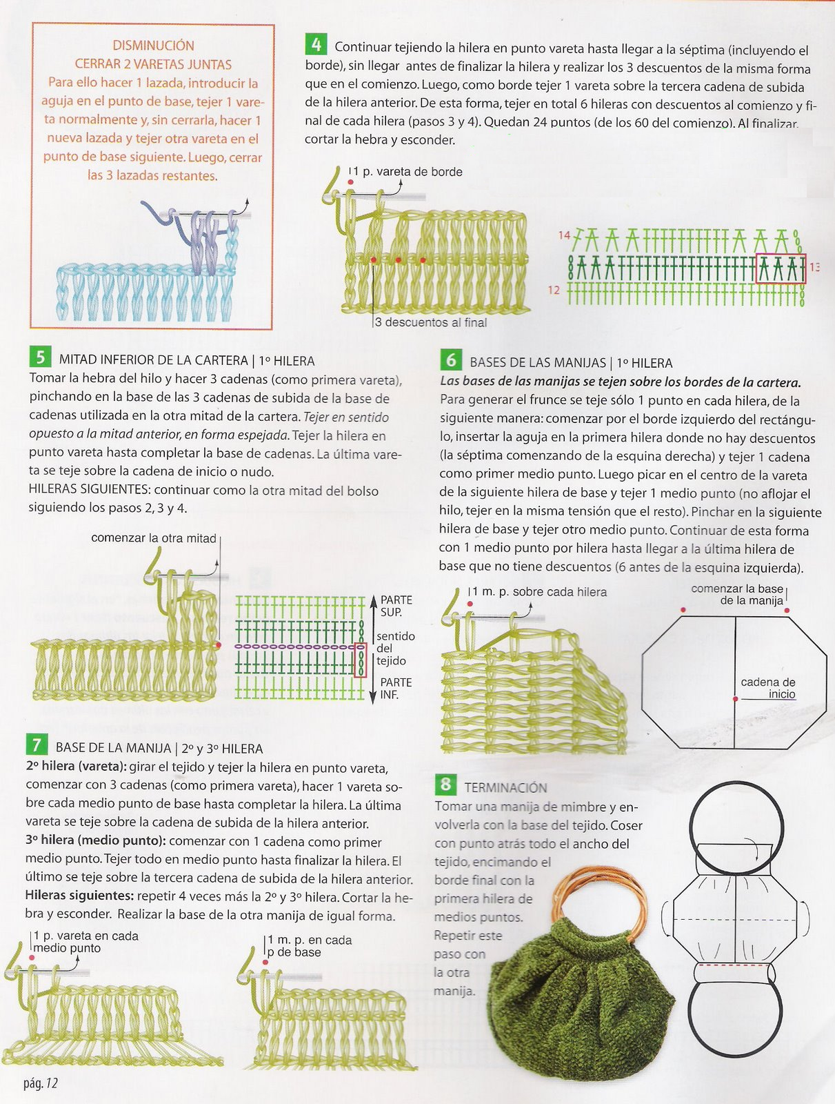 bolsa+artesanal+de+crochet+patron2.png 1.211×1.600 píxeles | Crochet ...