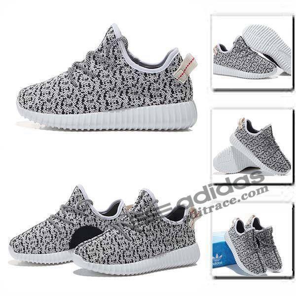 2a4ae35cc0dde Adidas Yeezy Boost 350 Nouvelle Chaussure Enfant Noir Grise  aditrace