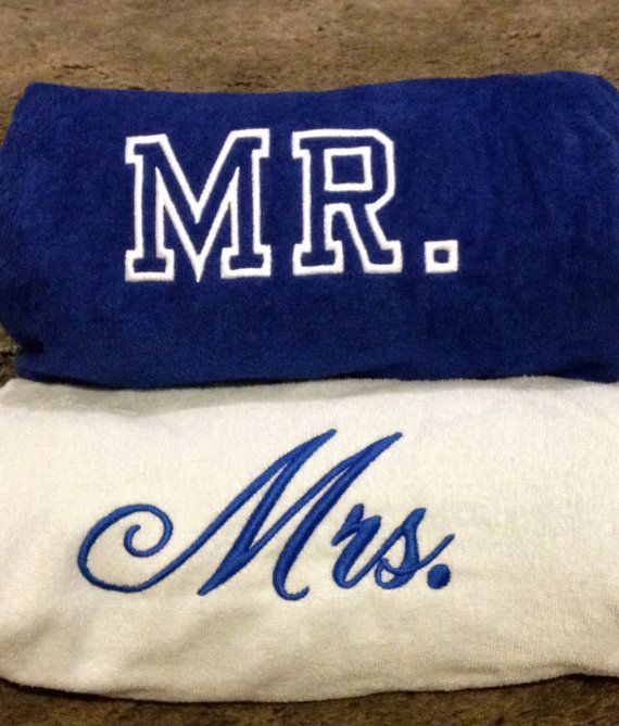 Mr Mrs Beach Towels Bride And Groom Made To Order By