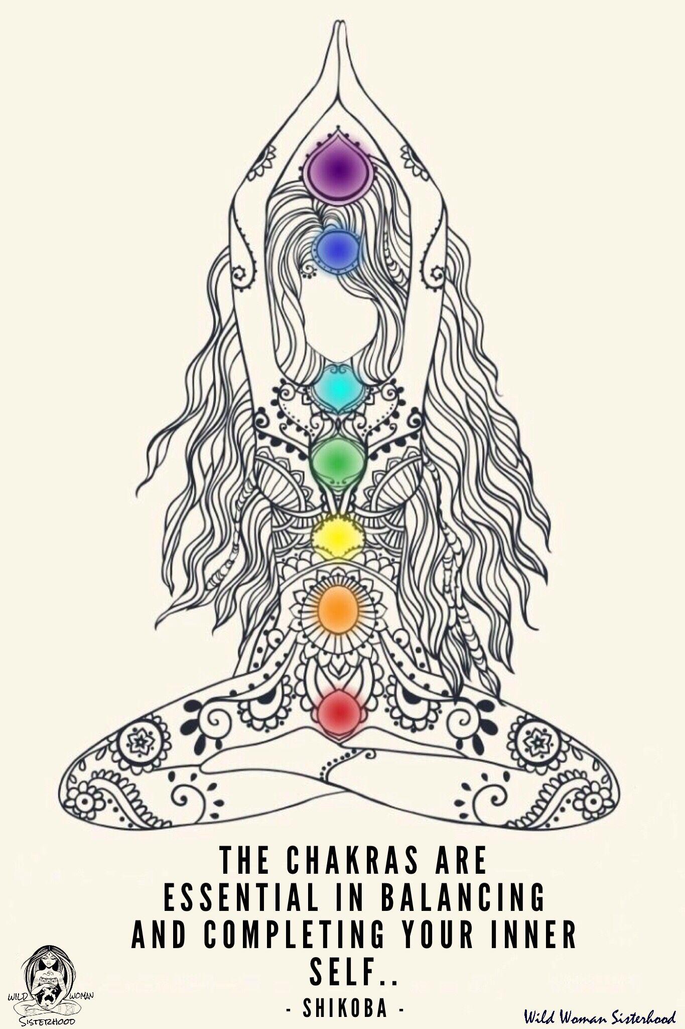 The Chakras With The Tarot Keys: Beautiful Drawing Of The Chakras System. The Chakras Are
