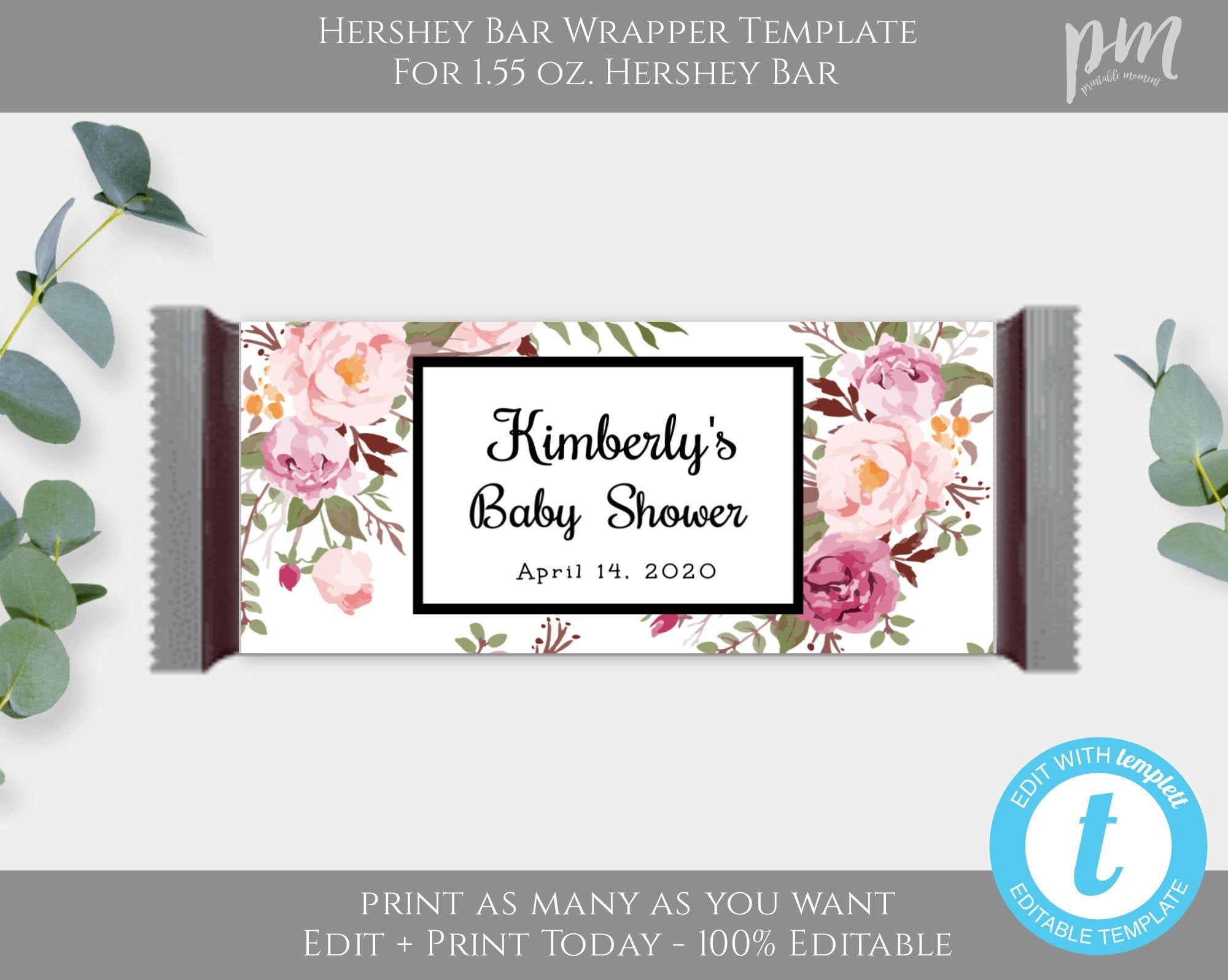 Candy Bar Wrapper Template Hershey Bar Wrapper Chocolate