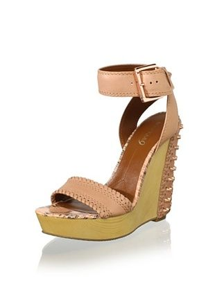 Boutique 9 Women's Gwendolyn Wedge Sandal (Natural)