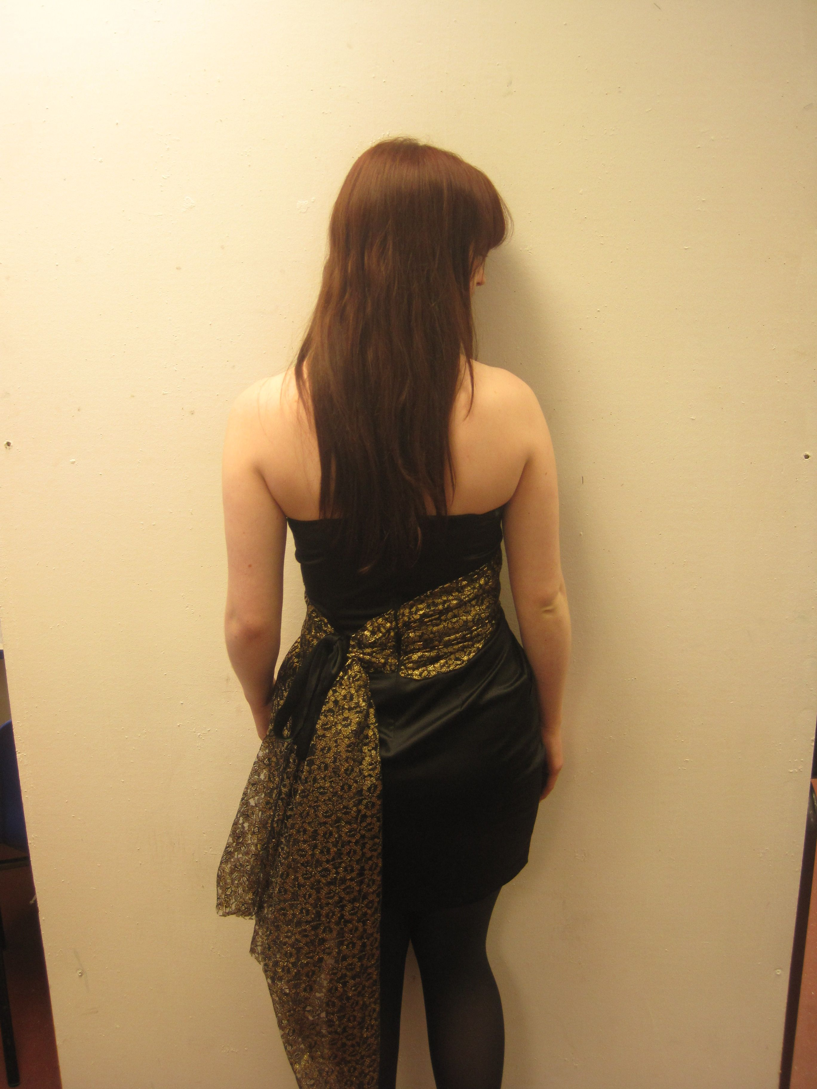 my altered prom dress back