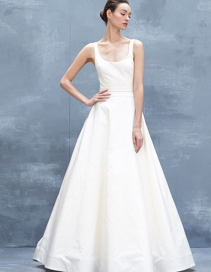 5b2de6c2be1 Ball Gown Wedding Dresses   Fall in love with this minimalist Amsale gown  and these 13 other gorgeous trends