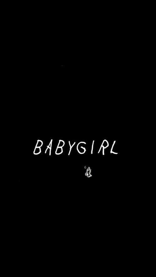 Imagen De Drake Babygirl And Baby Girl Wallpaper Ponsel Hitam Dan Putih Gambar