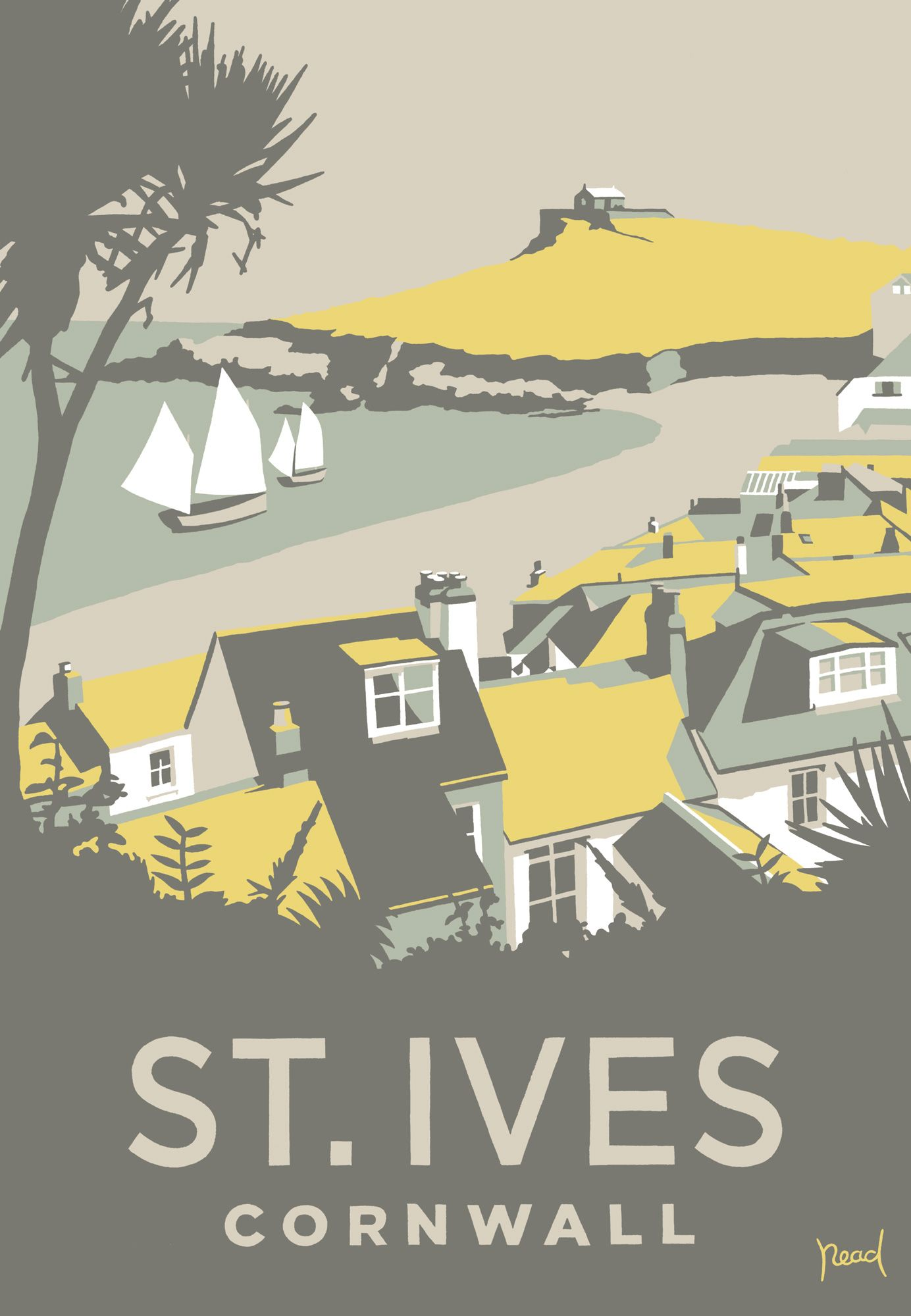 St Ives Porthmeor (SR25) Coastal Scenes Art Print by Steve Read http://www.whistlefish.com/product/sr25f-st-ives-2-framed-by-steve-read #stives #cornwall #artprint
