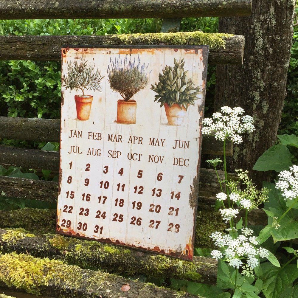 Traumhaft Romantische Deko Kalender Krauter Kuche Antik Metall Kuchenkalender Mit Bildern Romantische Deko