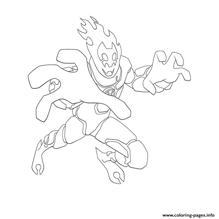print ben 10 inferno coloring pages