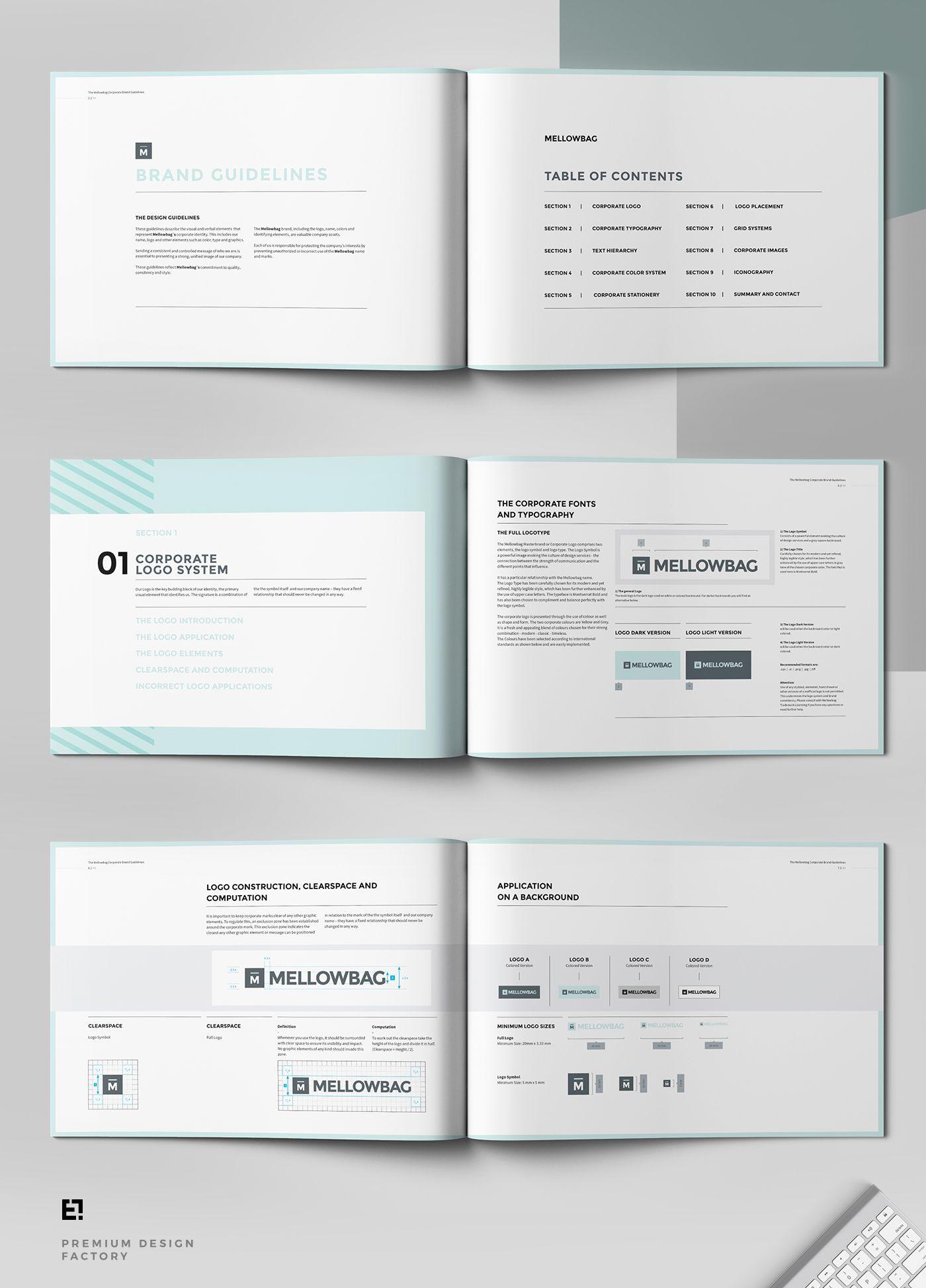 Mellow Brand Manual on Behance | Logo | Pinterest
