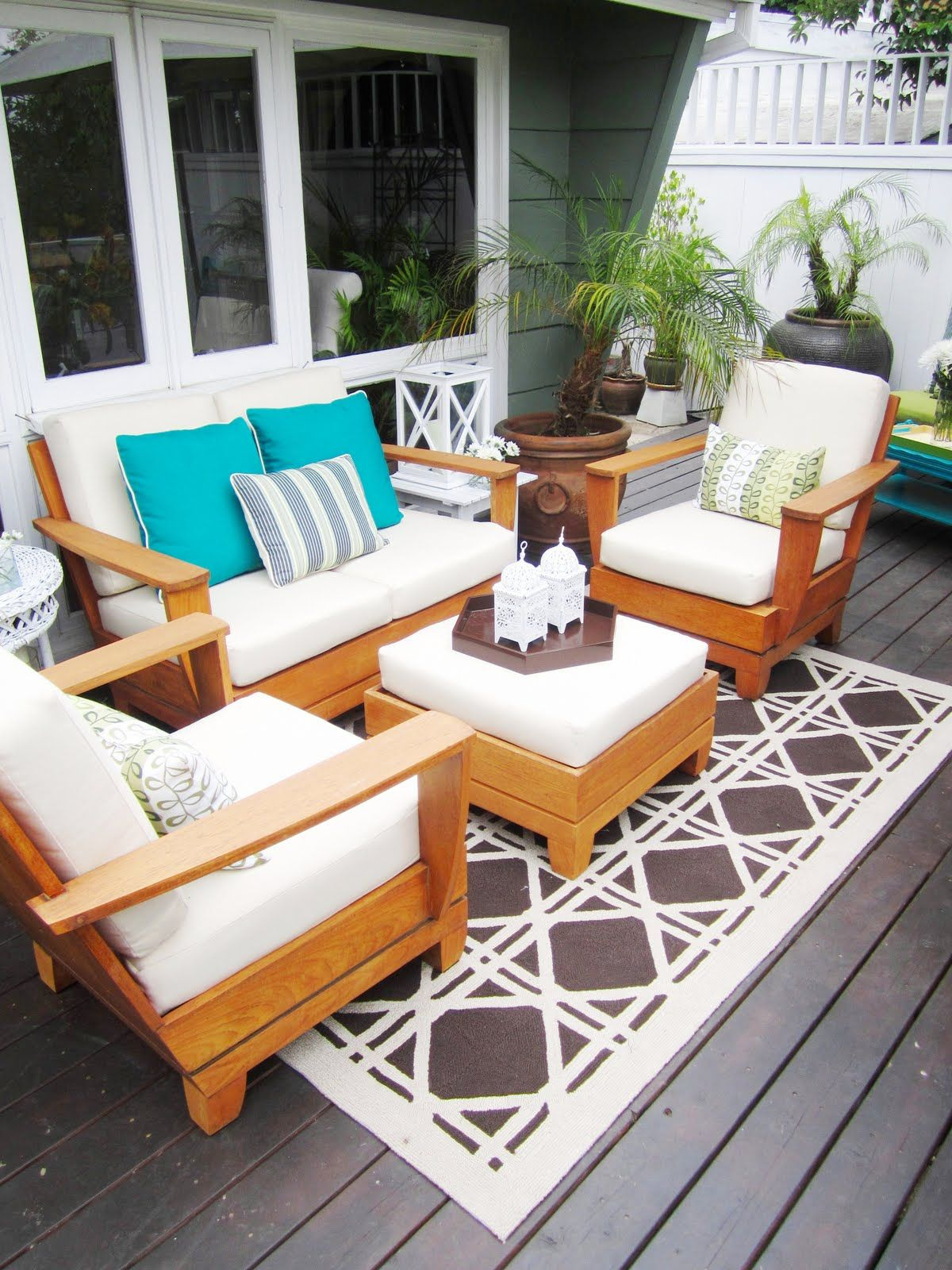 White Patio Furniture Sets For Small Spaces Among Rug