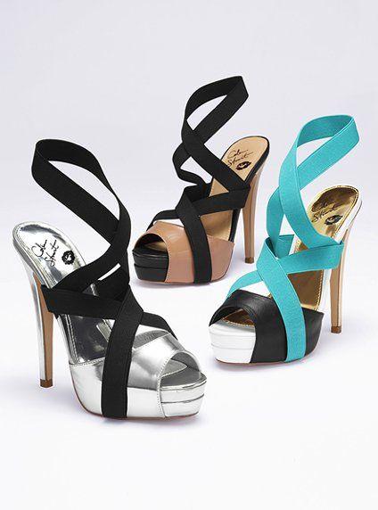 dcd90db916e111 Colin Stuart color block heels--I want silver.