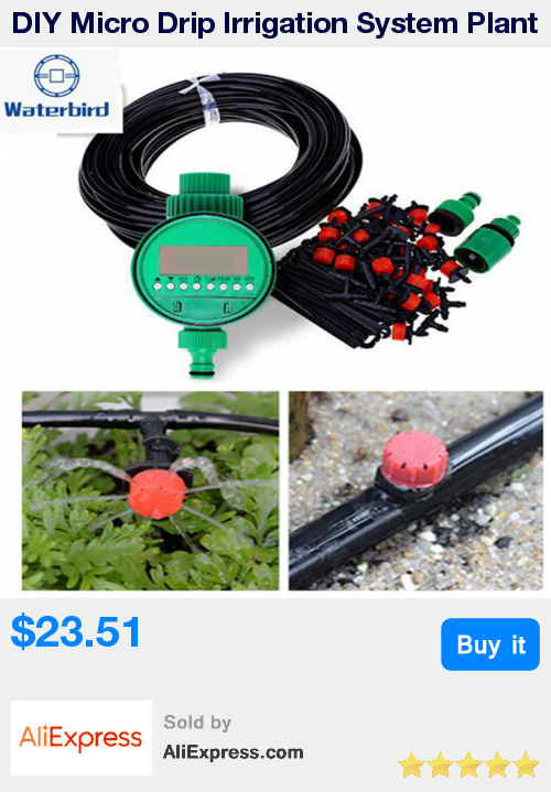 DIY Micro Drip Irrigation System Plant Self Automatic Watering Timer Garden  Hose Kits With Adjustable Dripper