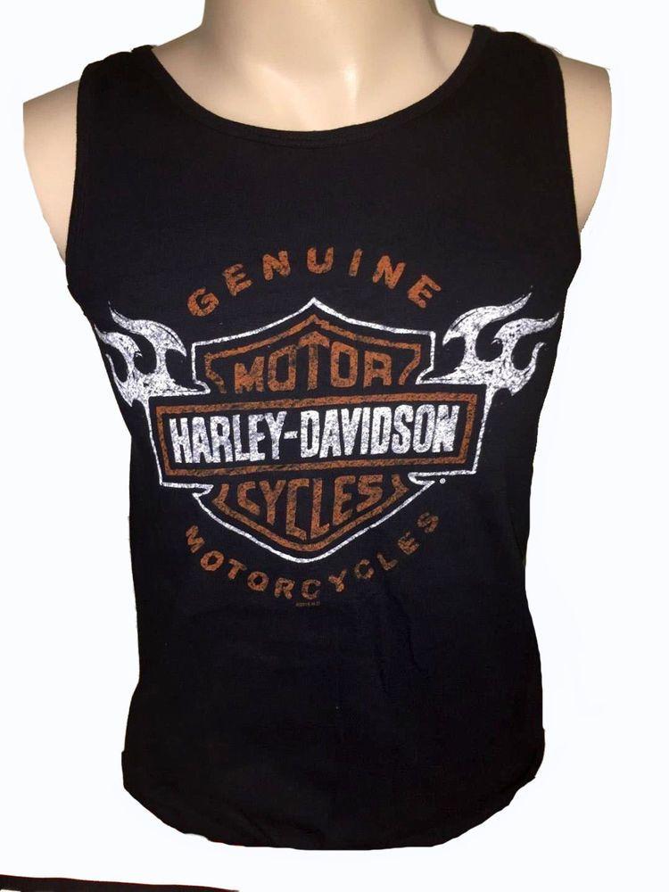 Harley Davidson Men S Black Tank Top Shirt Fist Of Iron Size Medium Nwts Fashion Clothing Shoe Black Tank Top Men Tank Top Shirt Harley Davidson Tank Tops