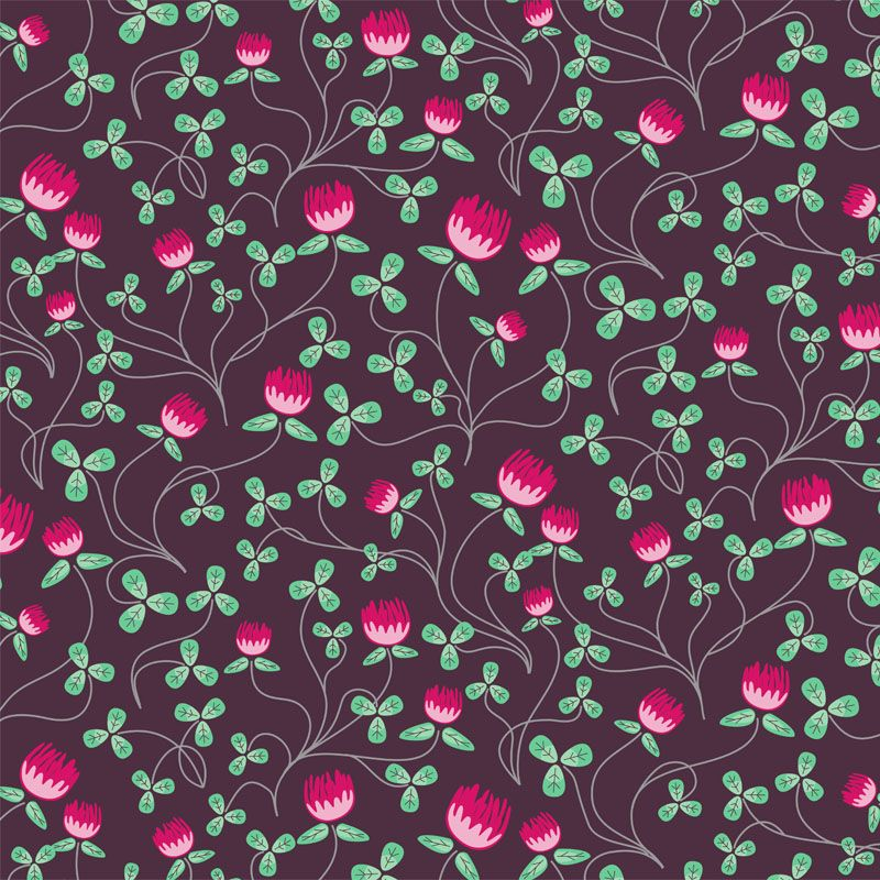 Clover Field in Night by Liz Ablashi for Modern Yardage, $10.99 /yd #modernyardage #fabric #sewing