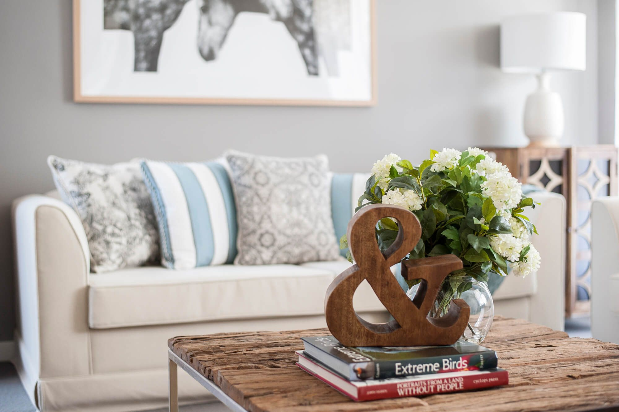 Earthy colours and neutrals with soft textures in this cosy country ...