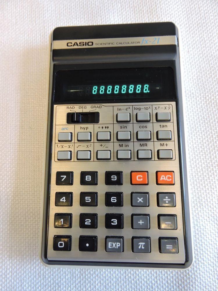 Vintage Casio fx-21 Scientific Calculator #Casio