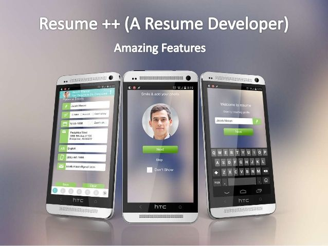 Resume ++ (A Resume Developer) Android App - Amazing Features - best resume app