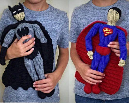 Batman and Superman Crochet Doll PATTERNS | Amigurumi - Crochet ...