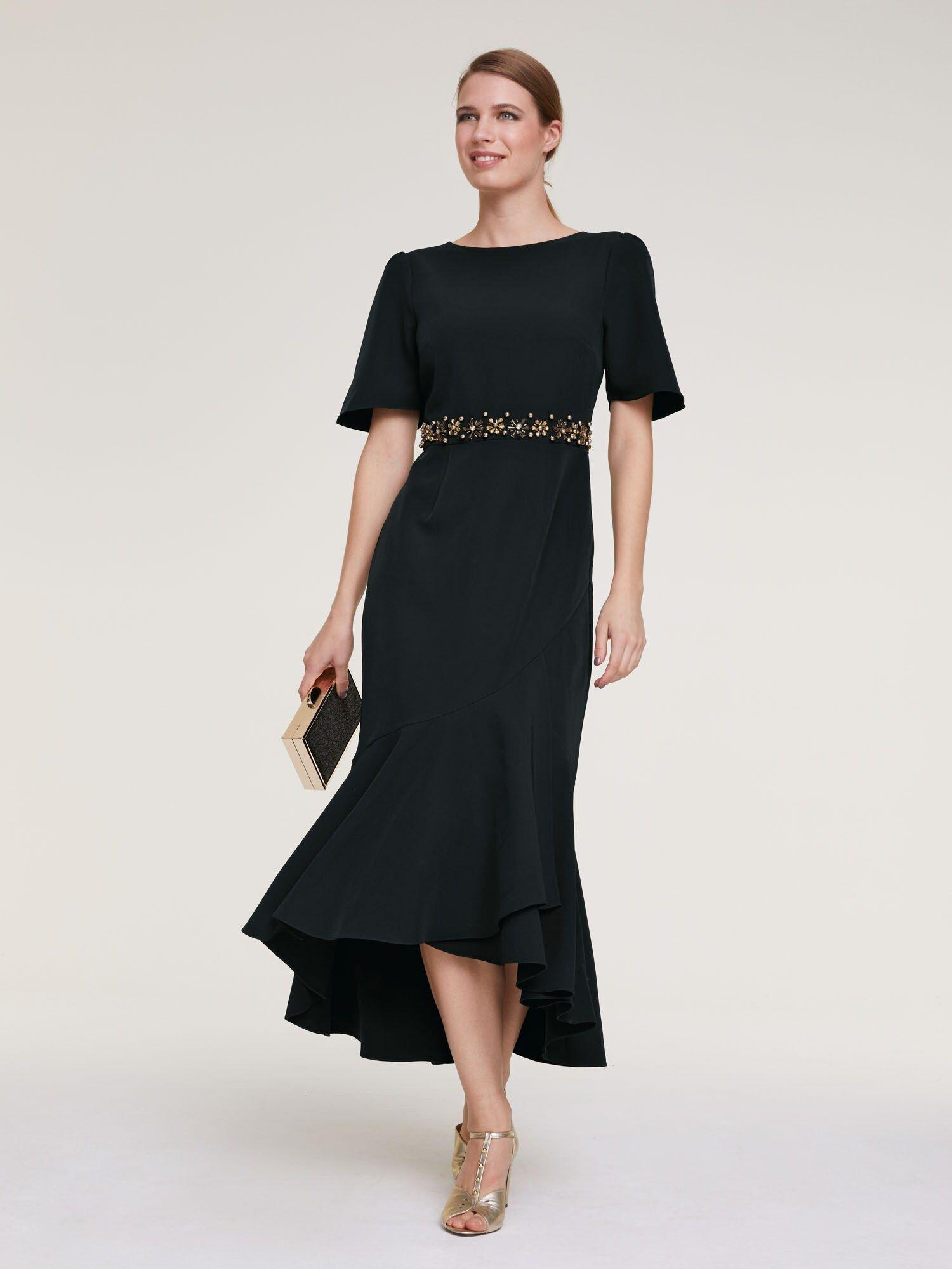 heine abendkleid damen, schwarz, größe 36 | abendkleid