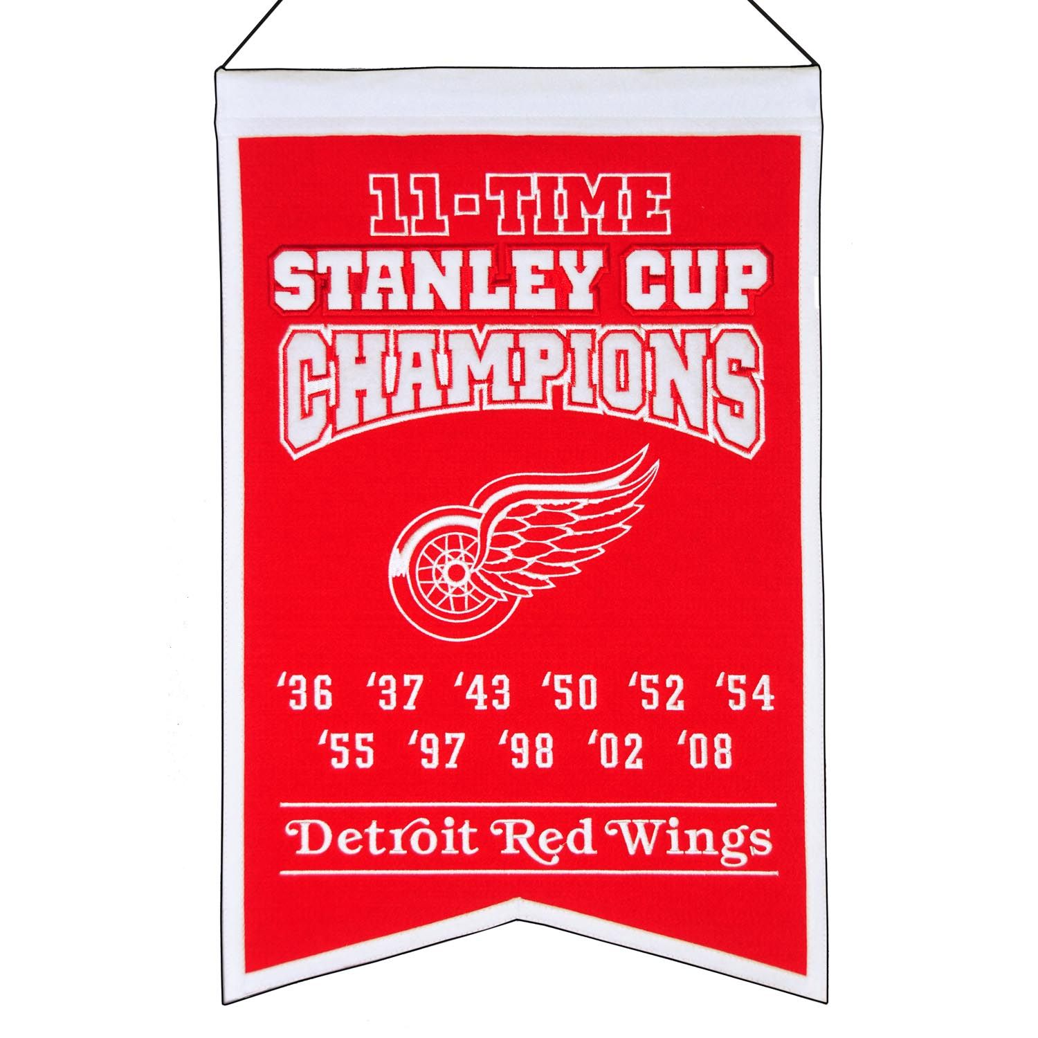 Sports & Outdoors Pennants Detroit Red Wings Pennant and 12 X 30 ...