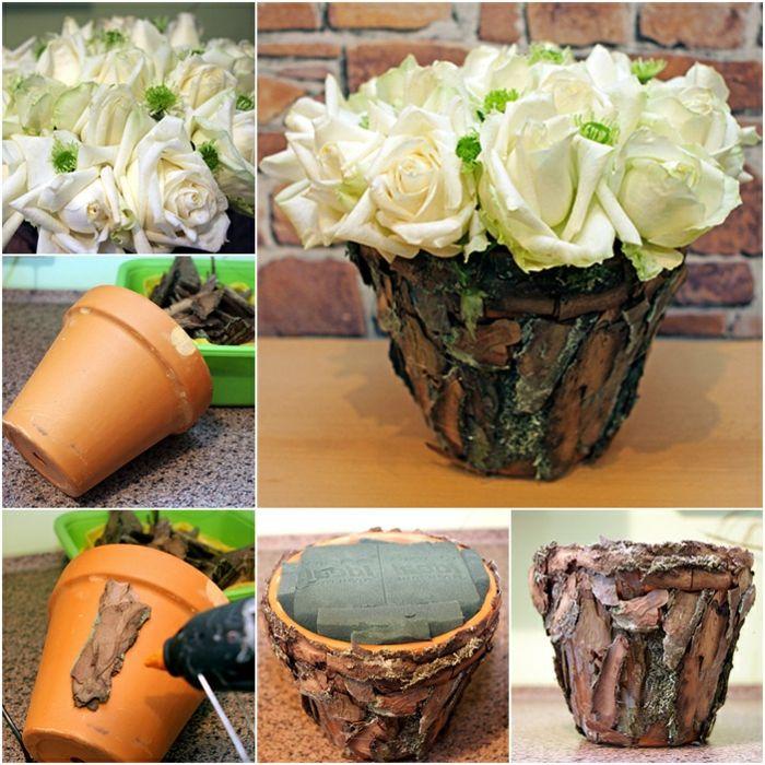 1001 ideen f r blument pfe dekorieren mit stil und lust for Blumentopf verkleidung